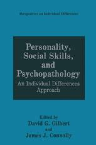 Interpersonal Models of Personality and Psychopathology