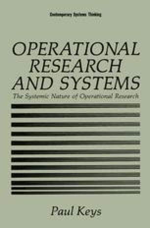 Operational Research and Systems
