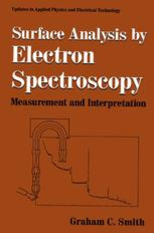 Surface Analysis by Electron Spectroscopy