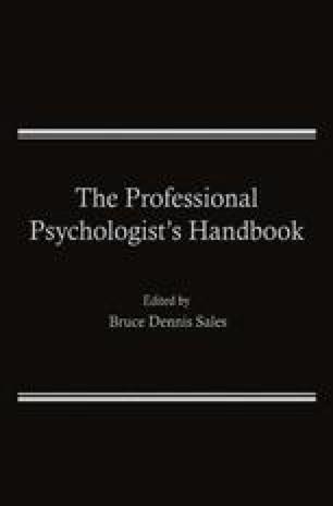 The Professional Psychologist's Handbook