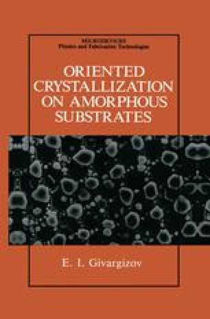 Oriented Crystallization on Amorphous Substrates