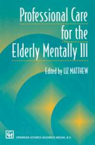 Professional Care for the Elderly Mentally Ill