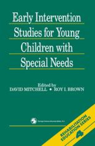 Early Intervention Studies for Young Children with Special Needs
