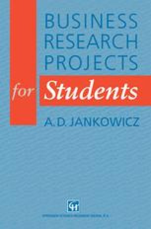 Business Research Projects for Students