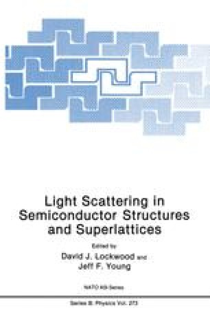 Light Scattering in Semiconductor Structures and Superlattices