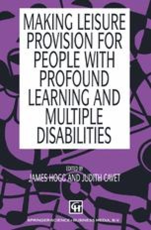 Making Leisure Provision for People with Profound Learning and Multiple Disabilities