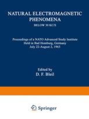 Natural Electromagnetic Phenomena below 30 kc/s