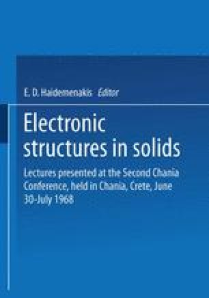 Electronic Structures in Solids
