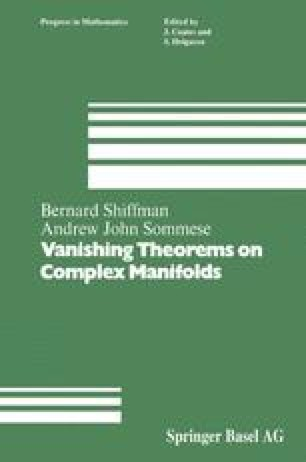 Vanishing Theorems on Complex Manifolds