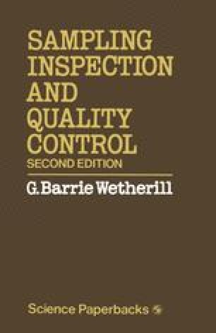 Sampling Inspection and Quality Control