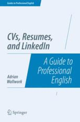 THE QUALITIES OF A GOOD CV AND RESUME | SpringerLink