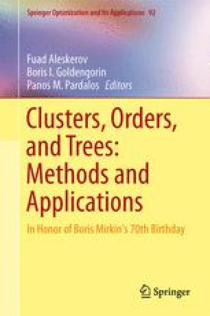 Clusters, Orders, and Trees: Methods and Applications