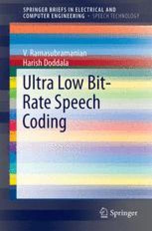 Ultra Low Bit-Rate Speech Coding