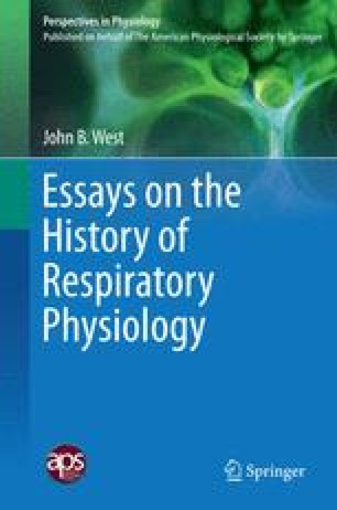 Essays on the History of Respiratory Physiology