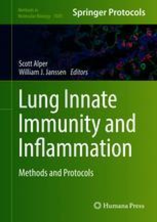 Lung Innate Immunity and Inflammation