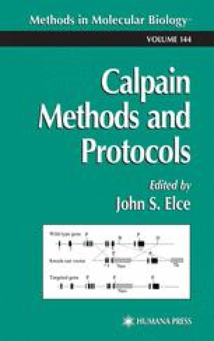 Calpain Methods and Protocols