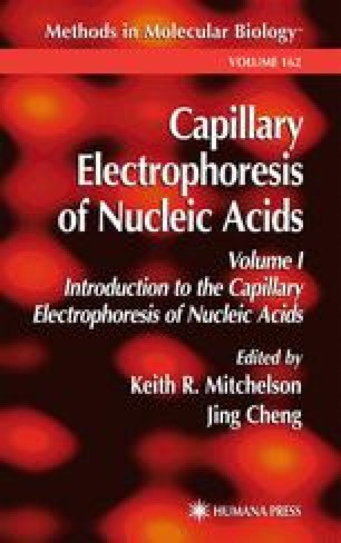 Capillary Electrophoresis of Nucleic Acids