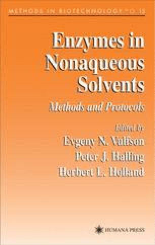 Enzymes in Nonaqueous Solvents