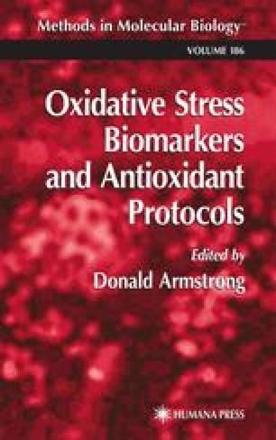 Oxidative Stress Biomarkers and Antioxidant Protocols