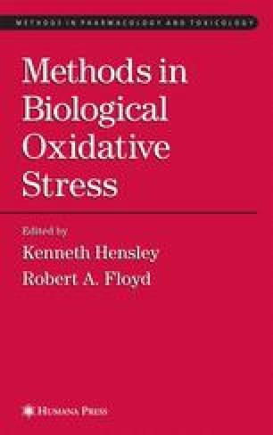 Methods in Biological Oxidative Stress