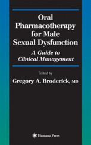 Oral Pharmacotherapy for Male Sexual Dysfunction