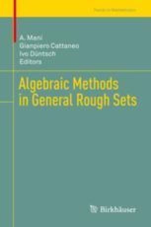 Algebraic Methods for Granular Rough Sets   SpringerLink
