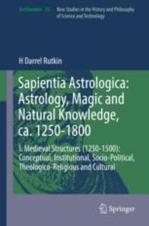 Ligamentum naturalis philosophiae et metaphysicae: Astrology