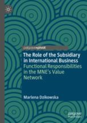 Functional Responsibilities of Subsidiaries: Theoretical