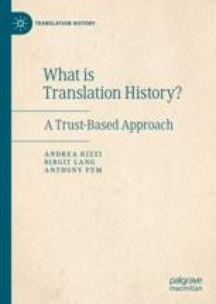 Introduction: Towards a New Translation History | SpringerLink