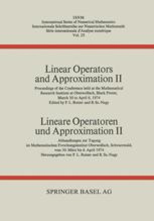 Linear Operators and Approximation II / Lineare Operatoren und Approximation II
