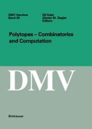 Polytopes — Combinatorics and Computation