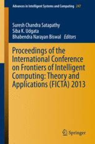 Proceedings of the International Conference on Frontiers of Intelligent Computing: Theory and Applications (FICTA) 2013