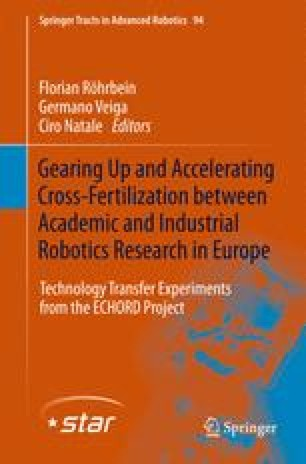 Gearing up and accelerating cross‐fertilization between academic and industrial robotics research in Europe:
