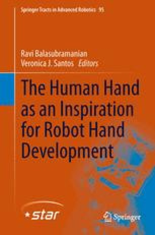 The Human Hand as an Inspiration for Robot Hand Development