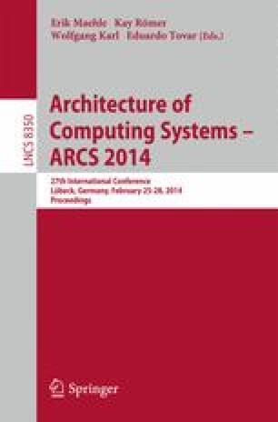 Architecture of Computing Systems – ARCS 2014