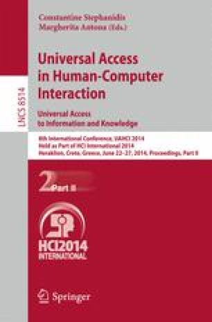 Universal Access in Human-Computer Interaction. Universal Access to Information and Knowledge