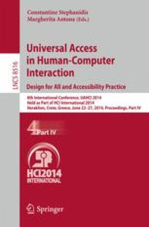 Universal Access in Human-Computer Interaction. Design for All and Accessibility Practice