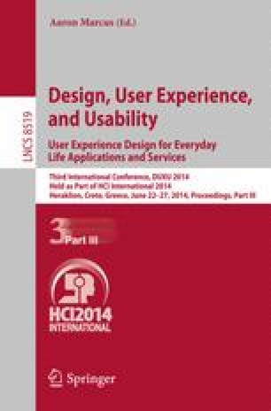 Design, User Experience, and Usability. User Experience Design for Everyday Life Applications and Services