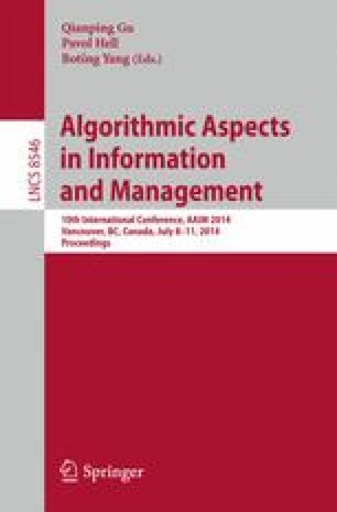 Algorithmic Aspects in Information and Management