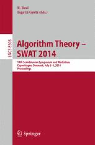 Algorithm Theory – SWAT 2014