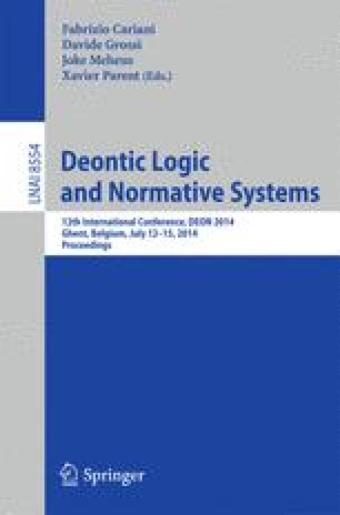 Deontic Logic and Normative Systems