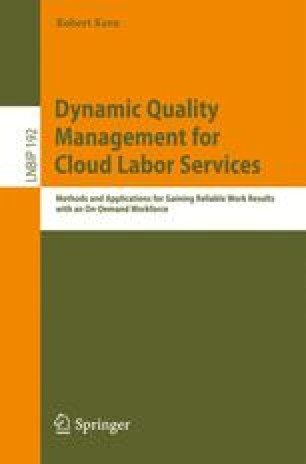 Dynamic Quality Management for Cloud Labor Services