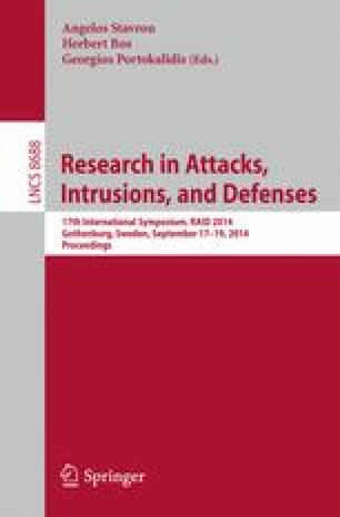 Research in Attacks, Intrusions and Defenses