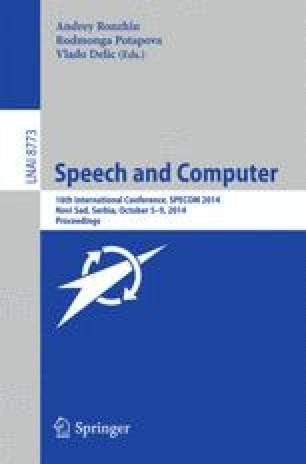 Speech and Computer
