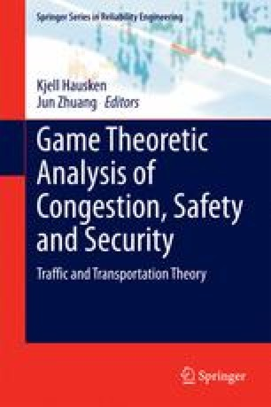 Game Theoretic Analysis of Congestion, Safety and Security