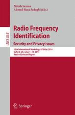 Radio Frequency Identification: Security and Privacy Issues