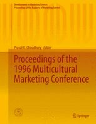 Proceedings of the 1996 Multicultural Marketing Conference