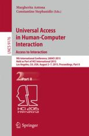 Universal Access in Human-Computer Interaction. Access to Interaction