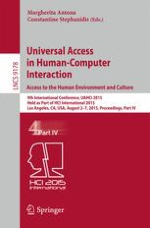 Universal Access in Human-Computer Interaction. Access to the Human Environment and Culture