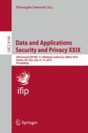Data and Applications Security and Privacy XXIX